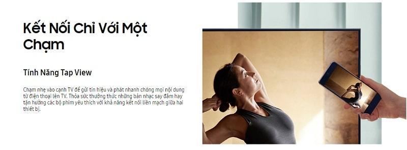 Tivi Samsung 55AU7700 kết nối từ điện thoại lên tivi đơn giản