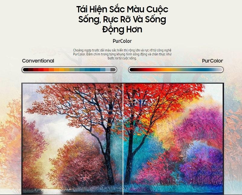 tivi samsung 75AU7700 tái hiện sắc màu cuộc sống, rực rỡ và sống động hơn