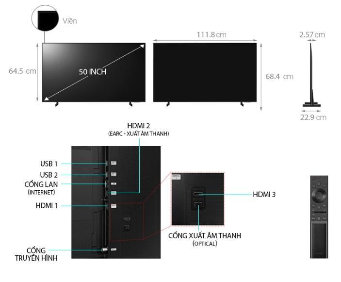 50AU8000 mô tả chi tiết sản phẩm