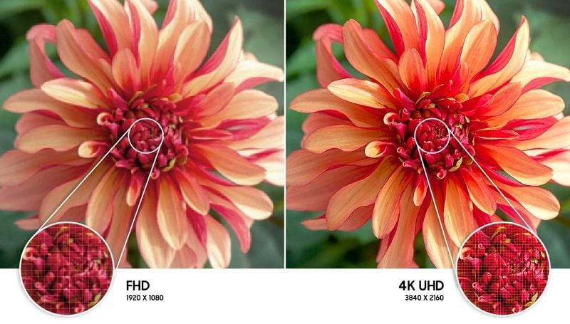 50AU8000 cho hình ảnh sắc nét với độ phân giải 4K
