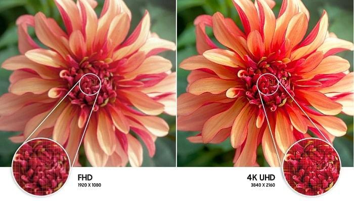 58AU7000 độ phân giải 4K mang đến hình ảnh sắc nét