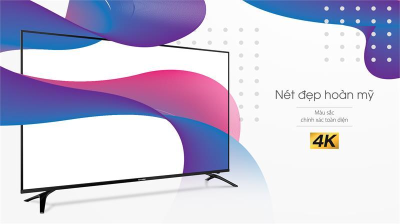 Tivi Sharp 4T-C55CJ2X nét đẹp hoàn mỹ