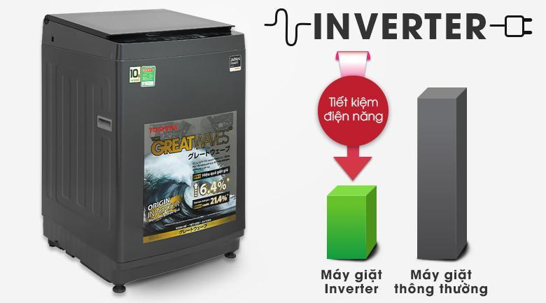 Máy giặt Toshiba AW-DUK1150HV (MG) sở hữu công nghệ Inverter giúp bạn tiết kiệm điện đáng kể