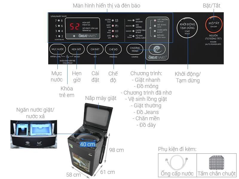 Máy giặt Toshiba Inverter 10,5 kg AW-DUK1150HV(MG)