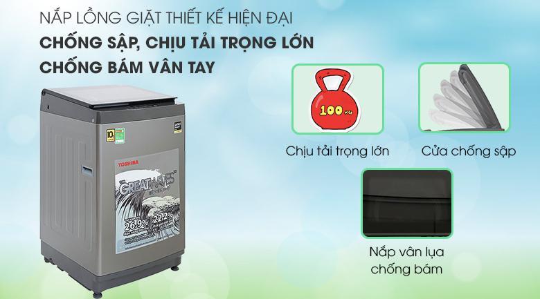 Sản phẩm tragng bị khả năng chống sập, chống bám vân tay rất hiệu quả với nắp lồng giặt hiện đại