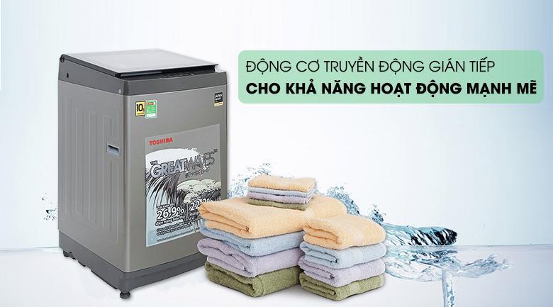 Là một mẫu máy giặt có động cơ truyền động gián tiếp cho khả năng hoạt động mạnh mẽ