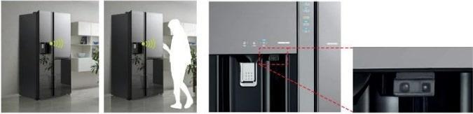 Tủ lạnh Hitachi R-S800PGV0 cảm biến con người tối ưu