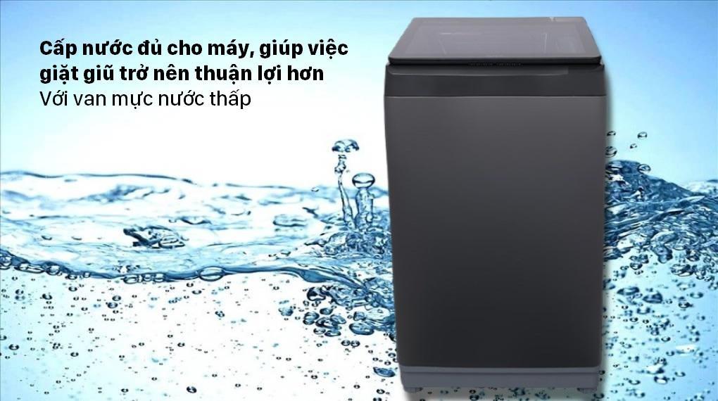 Máy giặt Aqua AQW-F100GT BK Sử dụng khi yếu với van mực nước thấp