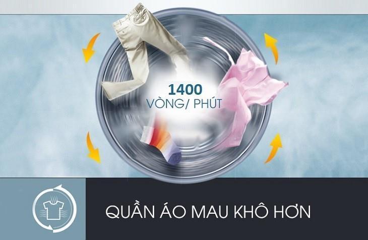 Máy giặt Samsung WW85T4040CE tốc độ quay vắt siêu nhanh