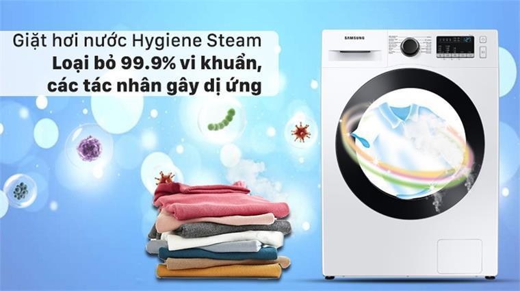 giặt hơi nước Hygiene Steam loại bỏ 99,9% vi khuẩn các tác nhân gây dị ứng
