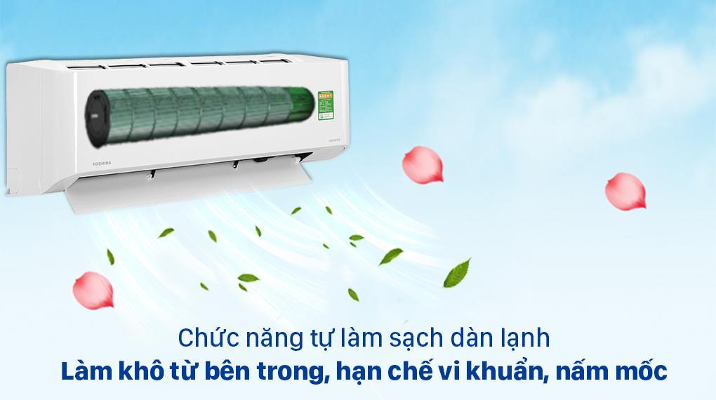 Điều hoà Toshiba RAS-H13C3KCVG-V Loại bỏ mùi ẩm mốc, giúp máy bền bỉ với chức năng tự làm sạch