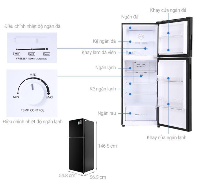 Tủ lạnh Aqua AQR-T238FA (FB) mô tả chi tiết