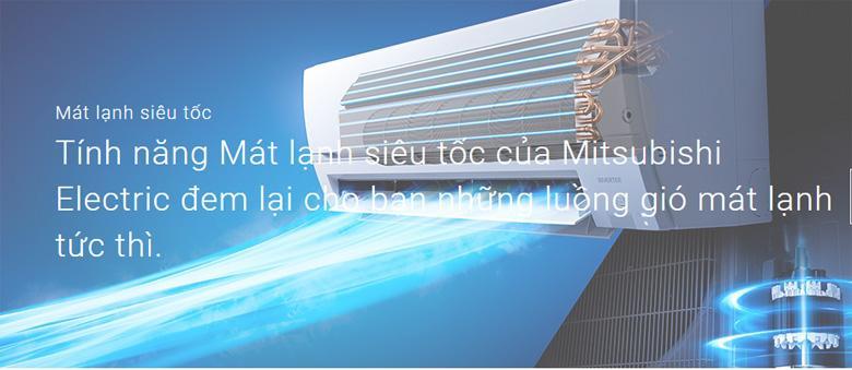 Điều hòa Mitsubishi electric MS-JS25VF giúp bạn tận hưởng mát lạnh tức thì ngay khi bật máy
