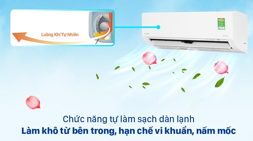 Loại bỏ mùi ẩm mốc với chức năng tự làm sạch dàn lạnh sau mỗi lần sử dụng
