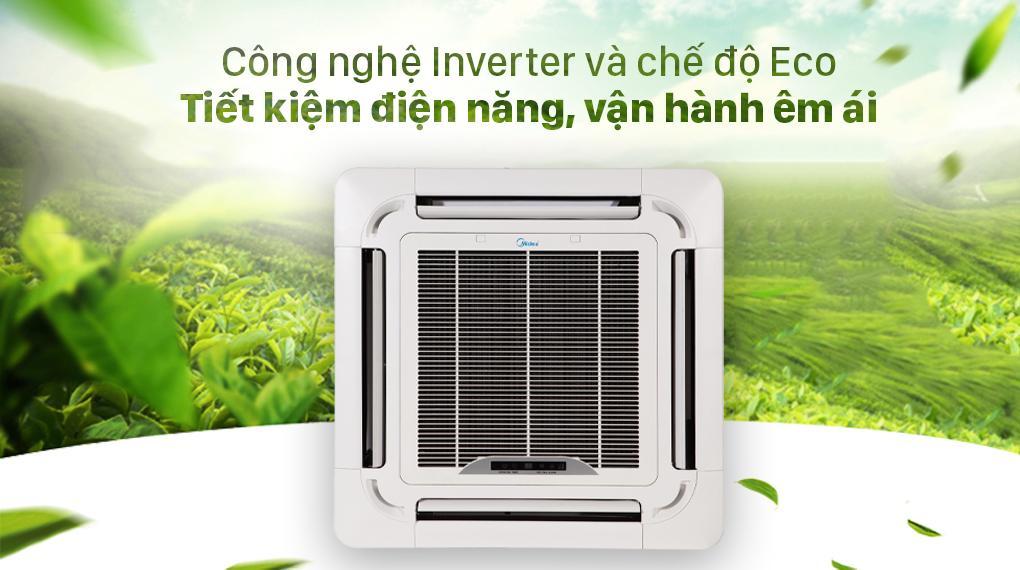 Điều hoà Midea MCD-24CRDN8 trang bị công nghệ Invertervà chế độ Eco tiết kiệm điện năng, vận hành êm ái