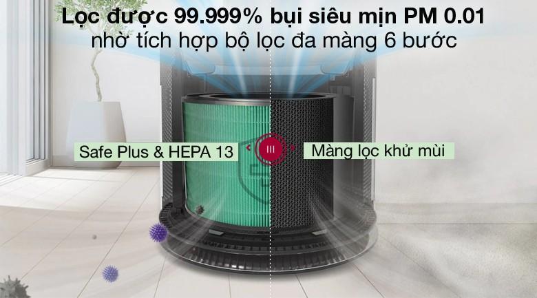 Hút lọc hiệu quả - Máy lọc không khí LG PuriCare AS65GDWH0.ABAE