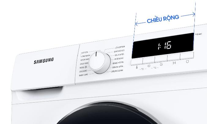 Máy giặt Samsung WW80T3020WW dễ dàng quan sát