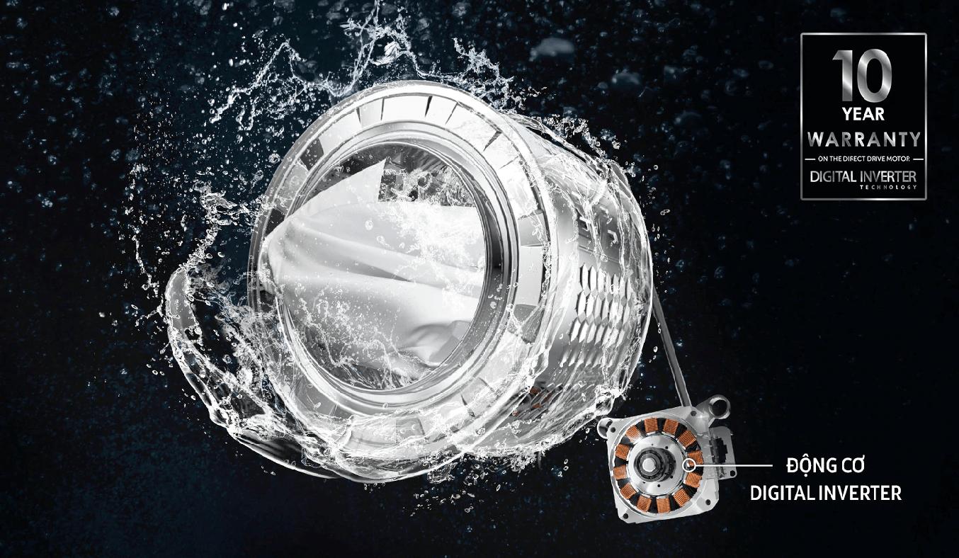Máy giặt Samsung Inverter 8 Kg WW80T3020WW/SV - Tiết kiêm năng lượng, vận hành bền bỉ