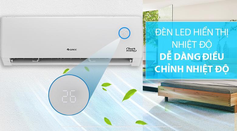 Điều hoà Gree GWC24PD-K3D0P4 trang bị màn hình LED điều khiển nhiệt độ dễ dàng