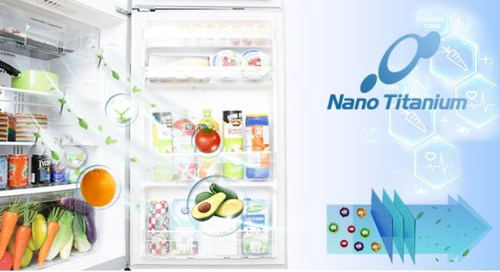 Tủ lạnh Hitachi R-G570GV XT công nghê kháng khuẩn khử mùi