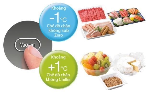 Tủ lạnh Hitachi R-G570GV XT hai vùng nhiệt độ