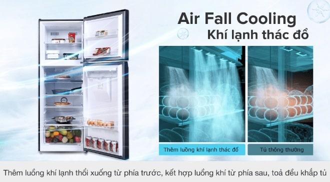 làm lạnh thực phẩm đồng đều với Air Fall Cooling