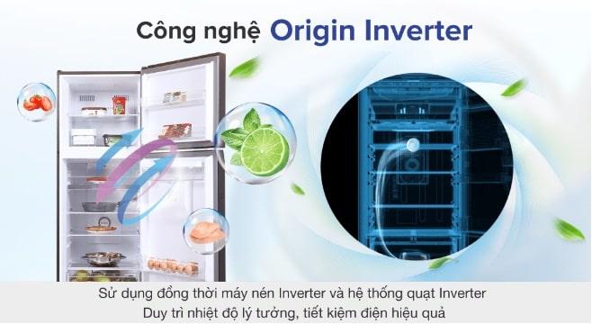 công nghệ origin inverter tiết kiệm điện hiệu quả