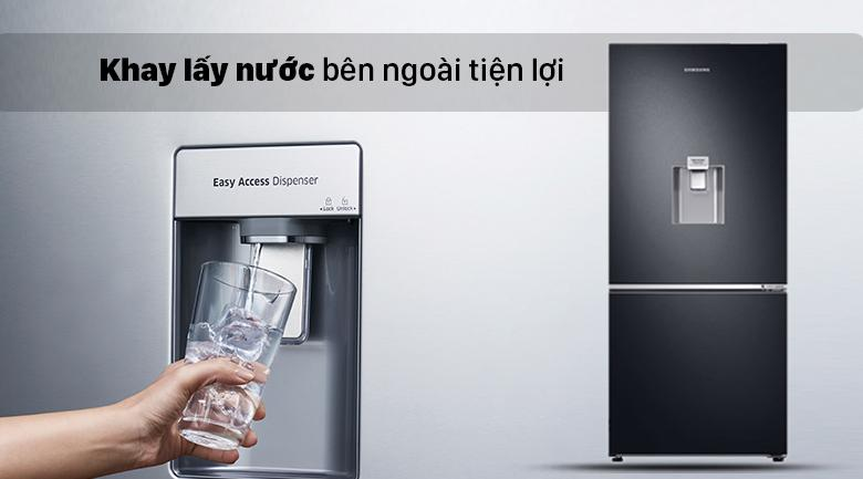 Tủ lạnh Samsung RB27N4190BU khay lấy nước bên ngoài tiện lợi