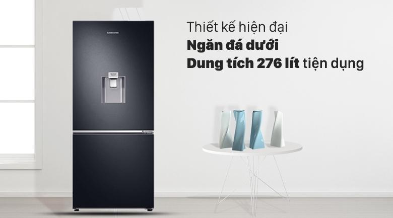 Tủ lạnh Samsung Inverter RB27N4190BU/SV - thiết kế hiện đại với ngăn đá dưới, 276 lít