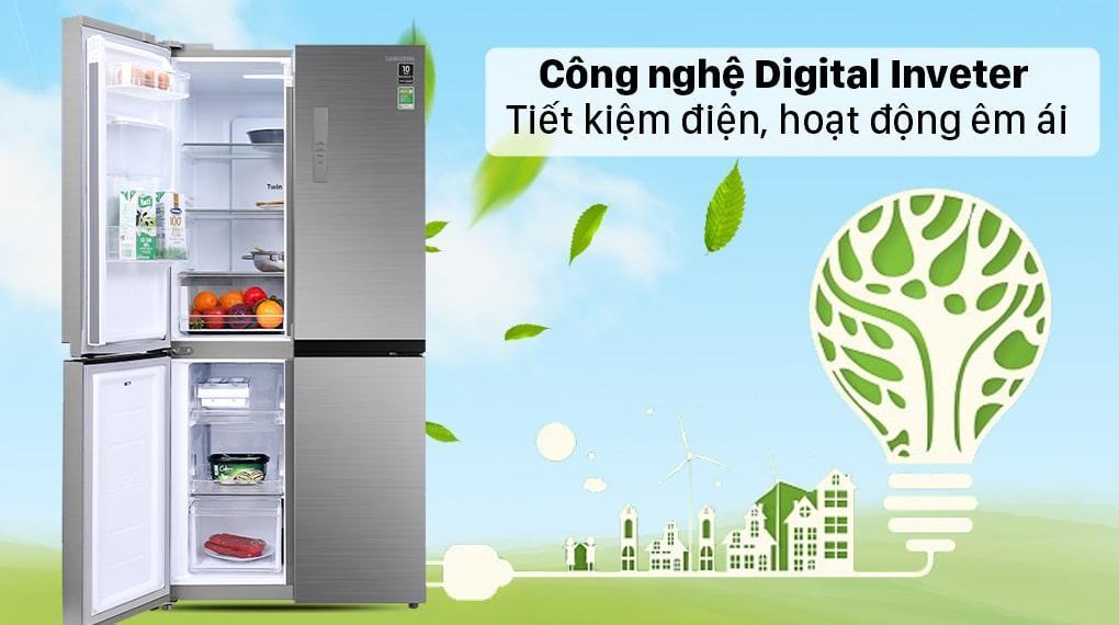 Tủ lạnh Samsung RF48A4010M9/SV trang bị công nghệ inverter digital tiết kiệm điện