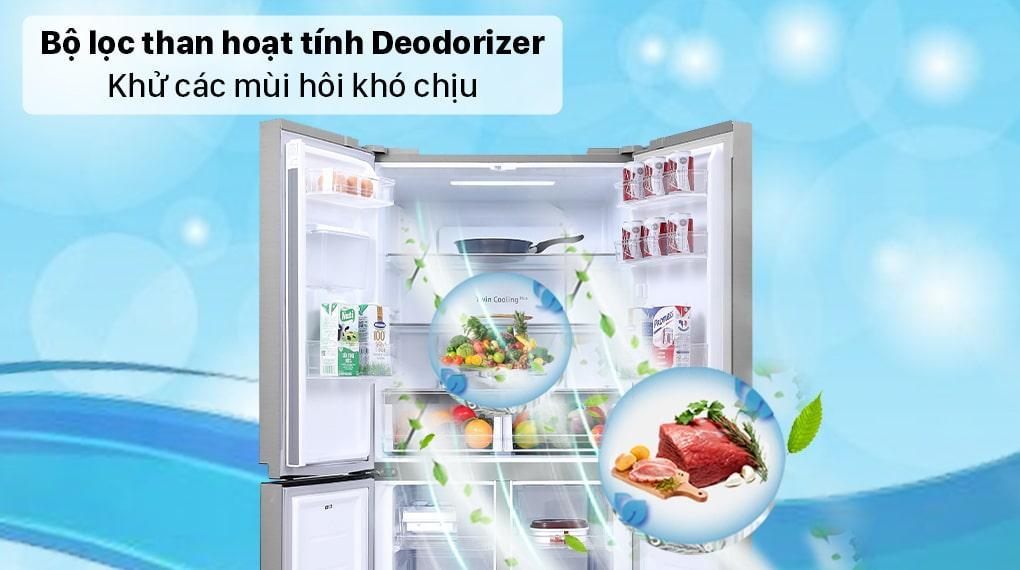 Tủ lạnh Samsung RF48A4010M9/SV bộ lọc than hoạt tính loại bỏ mùi hôi khó chịu