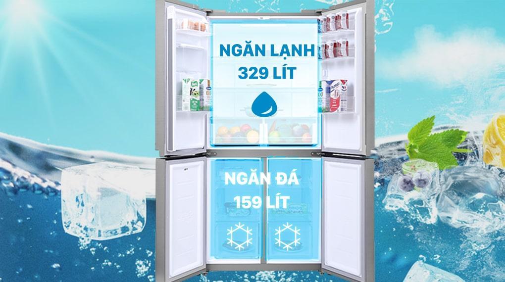 Tủ lạnh Samsung RF48A4010M9/SV phù hợp với gia đình có từ 4-5 thành viên