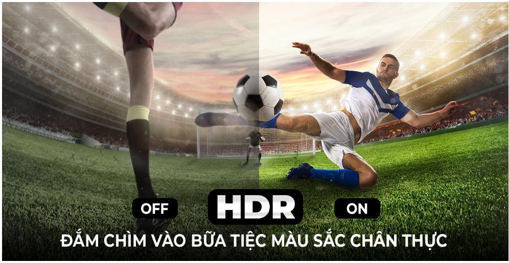 Tivi Casper 55UW6000 trang bị công nghệ HDR cho hình ảnh rực rỡ hơn