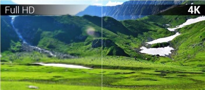 58UX5200 độ phân giải 4K cho hình ảnh sắc nét