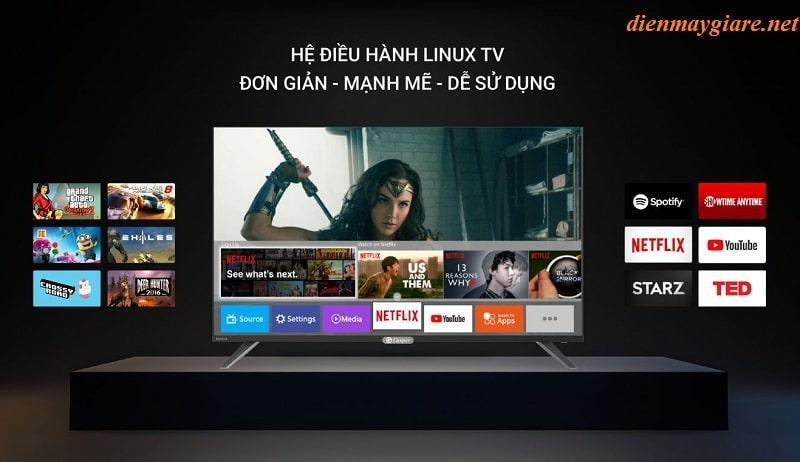 hệ điều hành Linux TV đơn giản, mạnh mẽ, dễ sử dụng