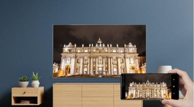 Tivi LG 55NANO86TPA trình chiếu từ điện thoại lên tivi