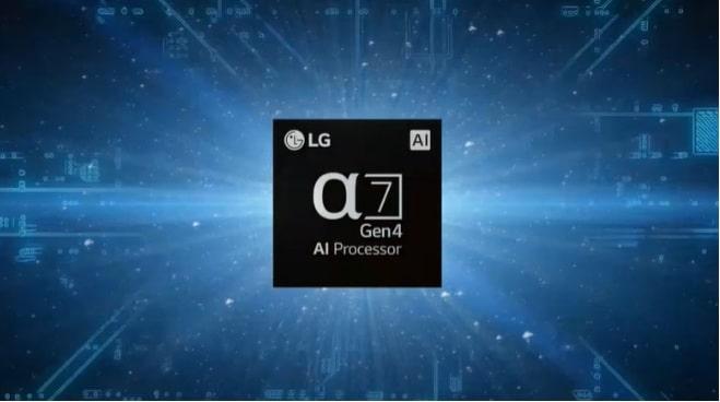 Tivi LG 55NANO86TPA chip xử lý Anpha 7 gen 4 nâng cấp chất lượng hình ảnh và âm thanh