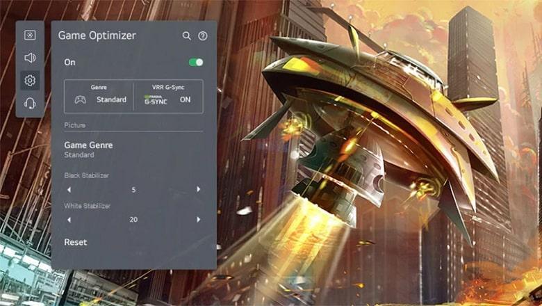 Tivi OLED LG 48A1PTA tối ưu hóa trò chơi