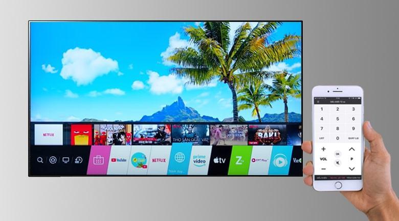 Tivi OLED LG 48A1PTA dễ dàng điều khiển tivi bằng điện thoại