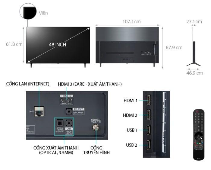 Tivi OLED LG 48A1PTA mô tả chi tiết sản phẩm