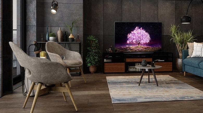 Tivi LG OLED 77C1 thiết kế sang trọng, hiện đại