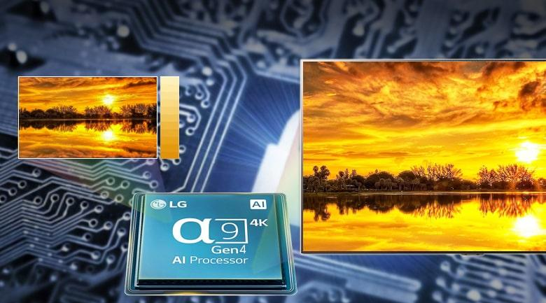 chip xử lý Anpha 8 Gen 4 AI processor cho nâng cấp hình ảnh và âm thanh