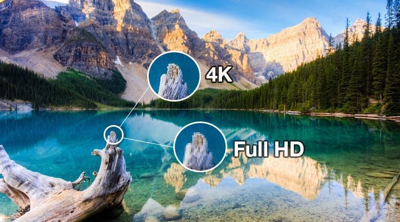 Tivi OLED LG 55G1PTA cho hình ảnh sắc nét chi tiết với độ phân giải 4K