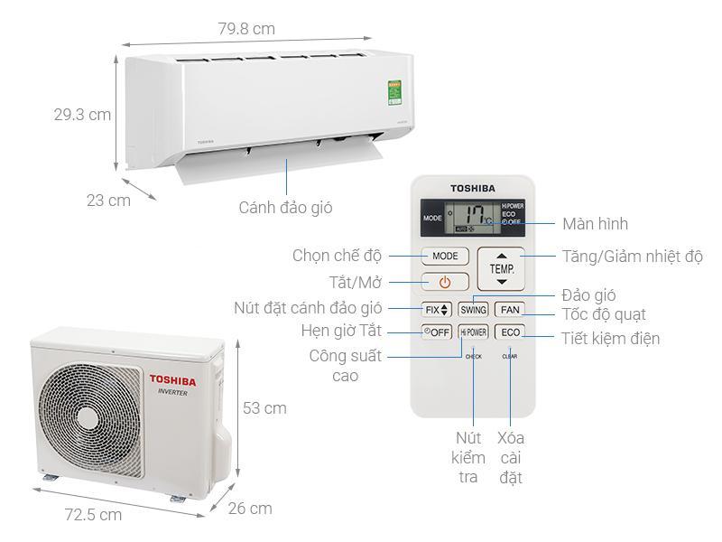 Điều hoà Toshiba RAS-H13L3KCVG-V Inverter 12000BTU