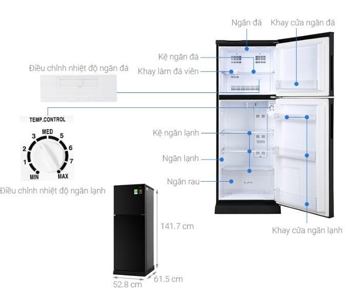Tủ lạnh Aqua AQR-T219FA(PB) giá rẻ nhất