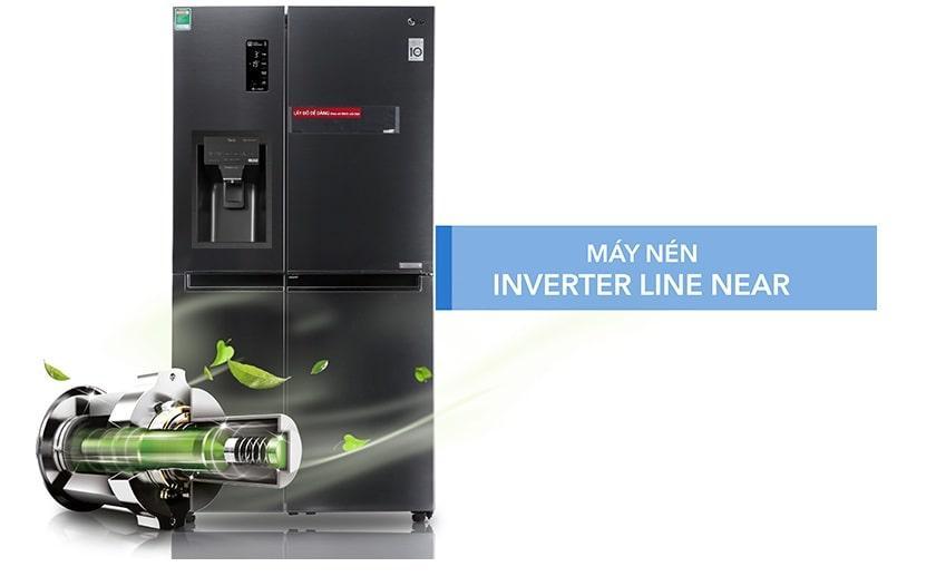 Tủ lạnh LG GR-D247MC máy nén inverter line near