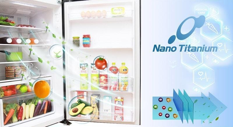 Tủ lạnh Hitachi R-FG510PGV8 GBW khử mùi nanotitanium