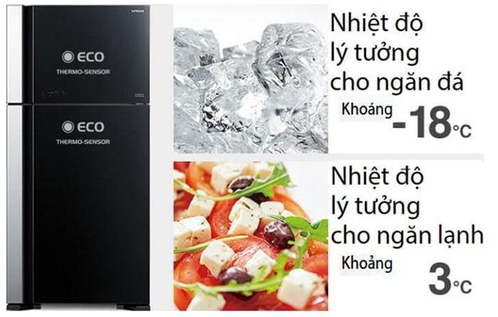 Tủ lạnh Hitachi R-FG560PGV8 GBK cảm biến thông minh