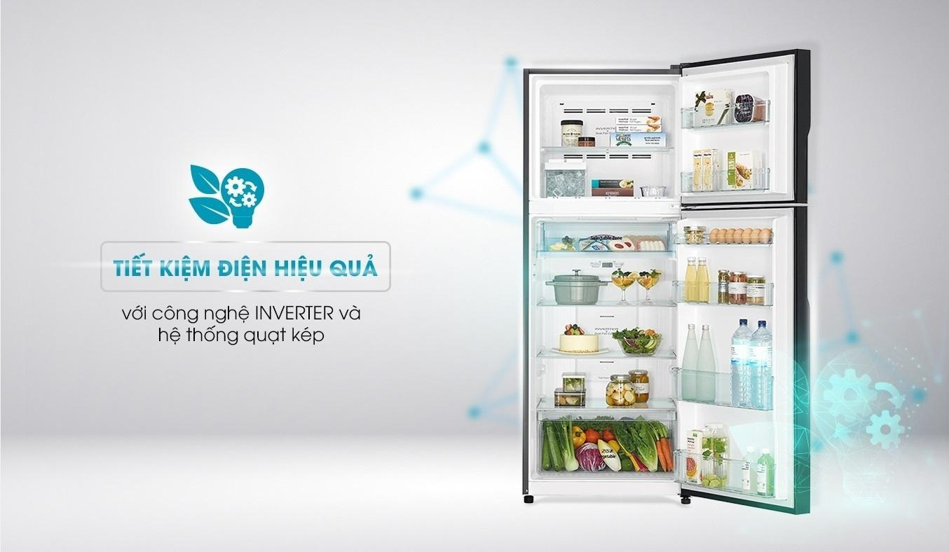 Tủ lạnh Hitachi Inverter 406 lít R-FVX510PGV9(GBK) - Công nghệ Inverter