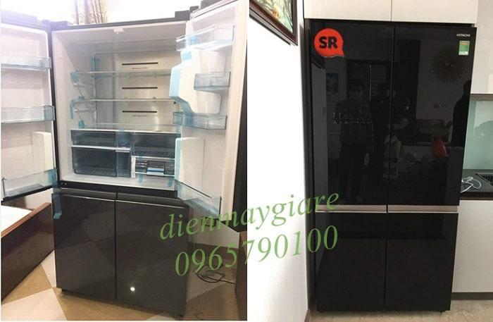 Tủ lạnh Hitachi WB640VGV0 GBK lắp đặt thực tế